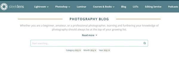 Sleek Lens - meilleur site web pour apprendre Photoshop