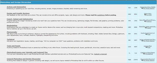9. Photoshop Forums