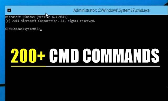 Liste de toutes les 200 commandes CMD pour Windows 10