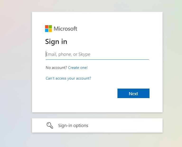 Ouvrez la page de connexion Office 365