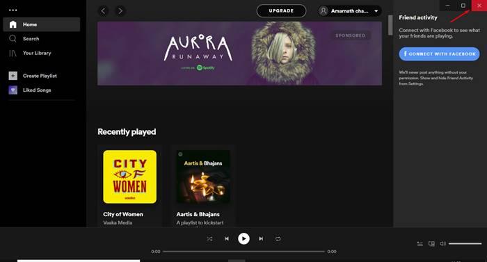Rouvrez l'application Spotify