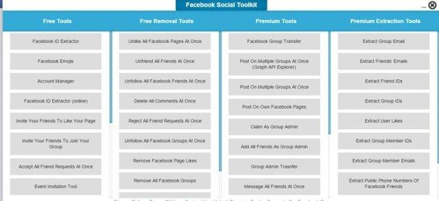 ajoutez l'extension Facebook