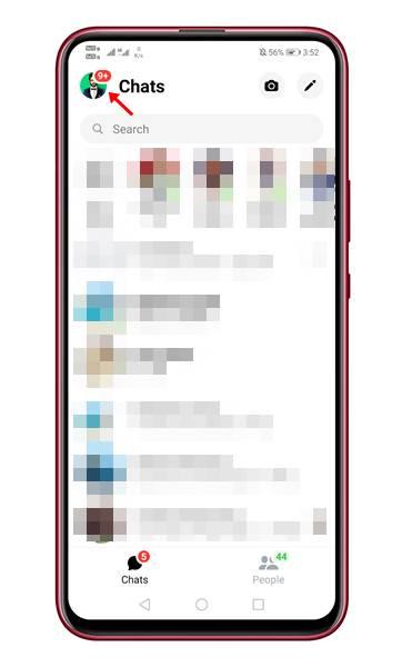 ouvrez l'application Messenger