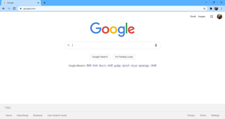 ouvrez le navigateur Google Chrome