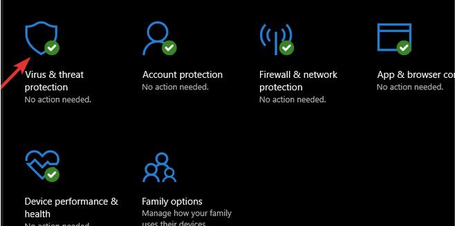 tapez Windows Defenderet appuyez sur Entrée.