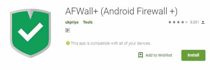 téléchargez et installez AFWall+