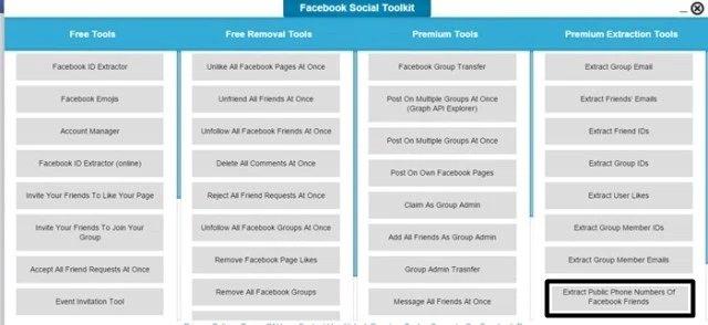 téléphone public des amis Facebook.