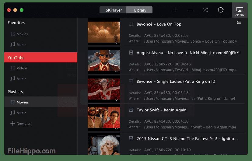 5KPlayer - meilleurs alternative à VLC