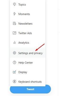 Configurez l'authentification à deux facteurs sur Twitter