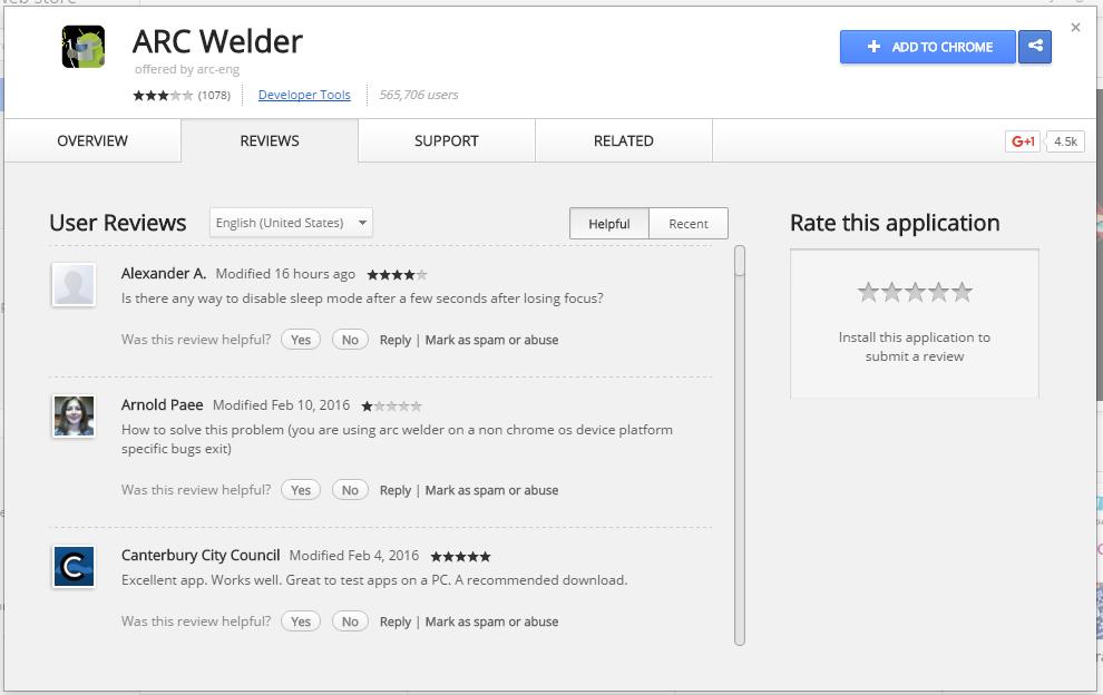 Exécuter des applications Android sur Google Chrome