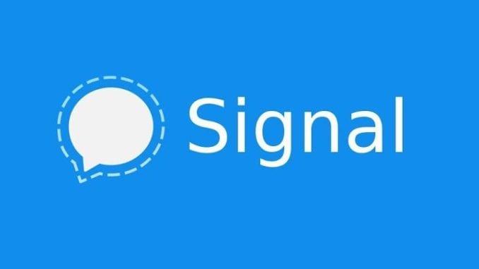Messagerie privée de signal