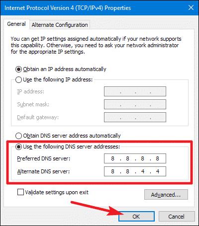 Passer à Google DNS