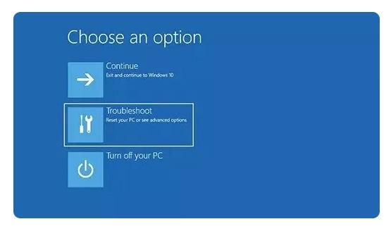 Réinitialiser Windows 10 via l'écran de verrouillage