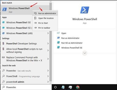Utilisation de PowerShell