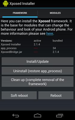 Utilisation du programme d'installation Xposed