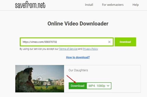 Utilisation d'un site Web tiers