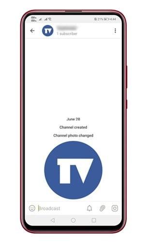 chaîne Telegram