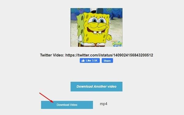 cliquez sur le boutonTélécharger la vidéo
