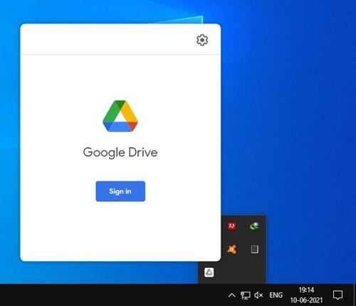 lancez l'application Google Drive