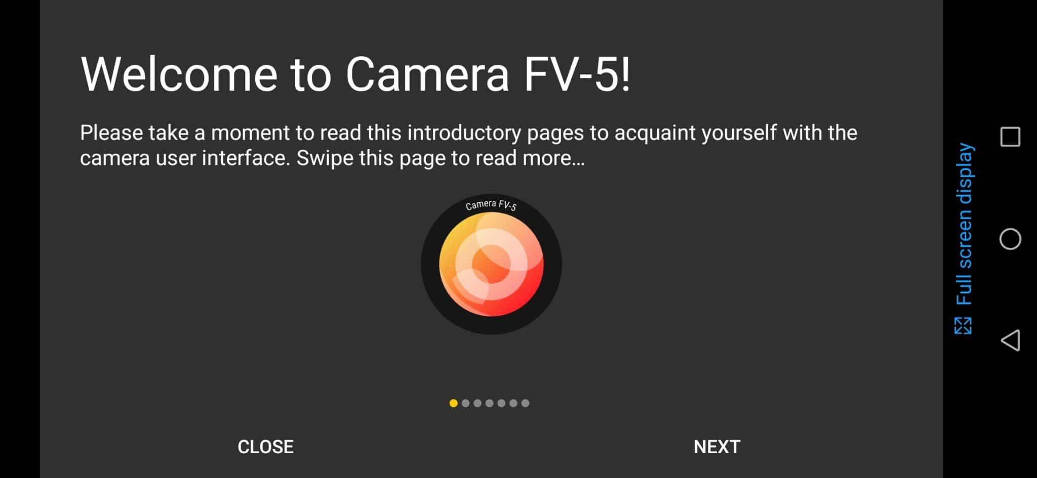 l'appareil photo sur Android