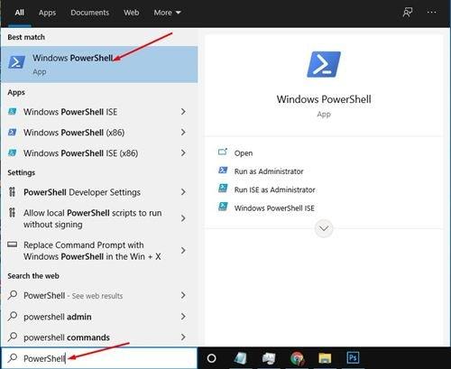 ouvrez la recherche Windows 10