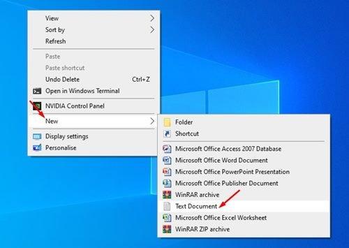 ouvrez le Bloc-notes sur votre ordinateur.