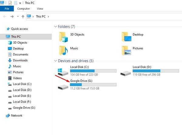 ouvrez l'explorateur de fichiers