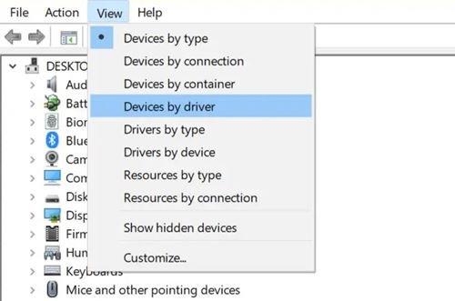 tous les pilotes installés dans Windows 10