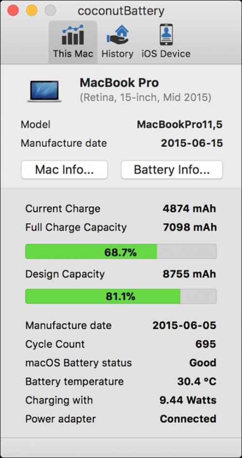 vérifier la santé de la batterie de votre MacBook