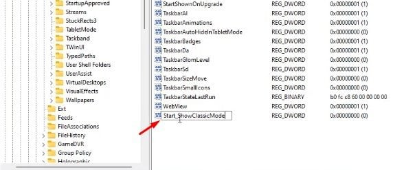 Activez le menu Démarrer classique dans Windows 11