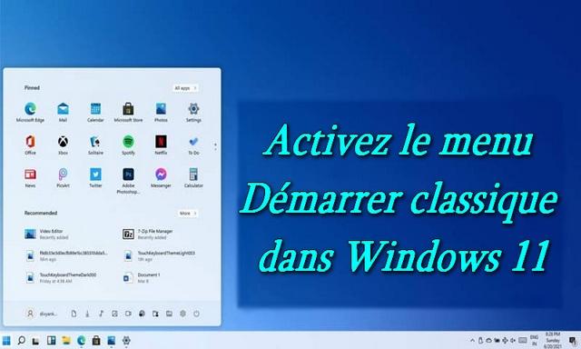 Comment revenir au menu Démarrer de Windows 10 dans Windows 11
