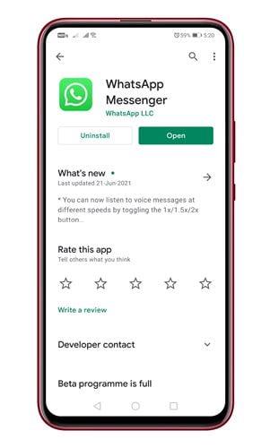 Envoyez des photos qui disparaissent sur WhatsApp