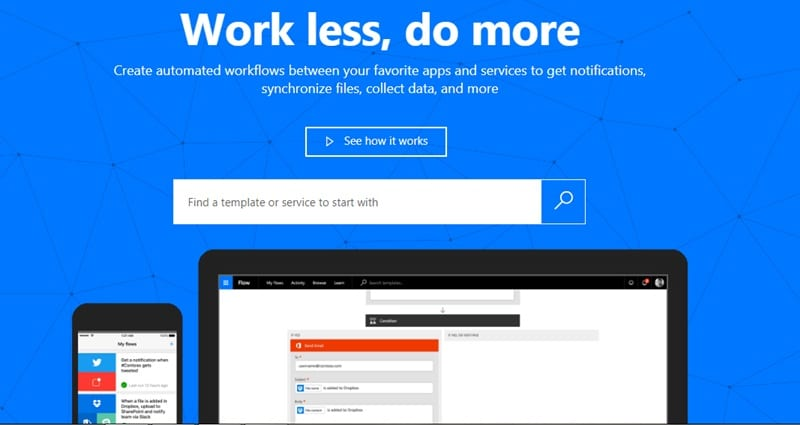Microsoft Flow - meilleure alternative à Zapier