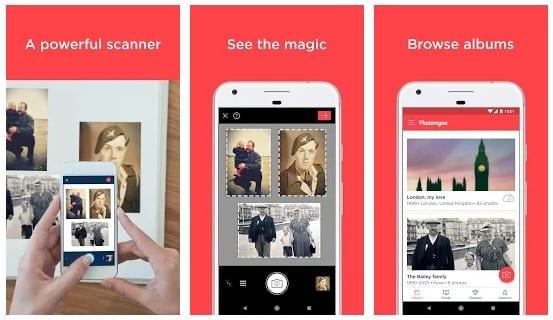 Numériser de vieilles photos sur Android