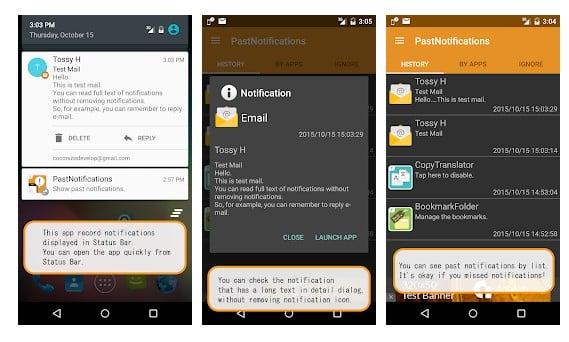 Sauvegarde des notifications dans Android