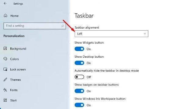 Windows 10 dans Windows 11.